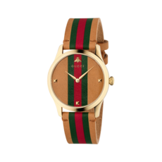 Gucci G-Timeless Le Marché des Merveilles Multi-Colour Dial PVD Gold Plated Unisex Quartz Watch YA1264077