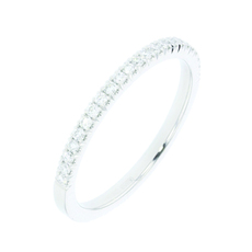 Charles Green & Son Castel Collection Platinum 0.23ct Brilliant Cut Diamond Half Eternity Ring