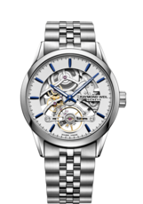 Raymond Weil Freelancer Calibre RW1212 Silver Skeleton Dial Stainless Steel Mens Watch 2785-ST-65001