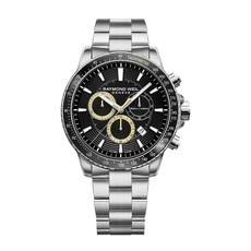 Raymond Weil Tango Black Dial Stainless Steel Mens Quartz Chronograph Watch 8570-ST1-20701