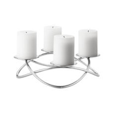 Georg Jensen Living SEASON Stainless Steel Grand Candleholder (Large) 3586431