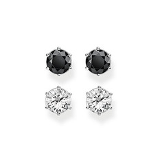 Thomas Sabo Glam & Soul Sterling Silver & Zirconia Stud Earrings Ear Studs Set SCHH150213