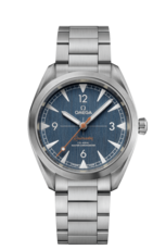 Omega Seamaster Railmaster Omega Co-Axial Master Chronometer Denim Blue Dial Stainless Steel Mens Wristwatch 22010402003001