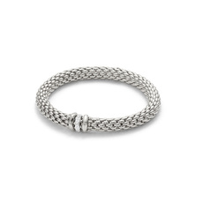 FOPE Flex'it Love Nest 18ct White Gold & Diamond Bracelet 451BBBRM