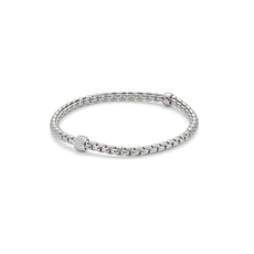 FOPE Flex'it Eka Tiny 18ct White Gold & Diamond Bracelet 733BPAVEM