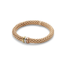 FOPE Flex'it Love Nest 18ct Rose Gold Bracelet 451BM