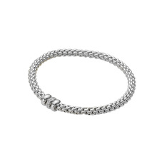 FOPE Flex'it Solo 18ct White Gold & Diamond Bracelet 621BBBRM
