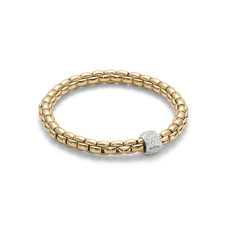 FOPE Flex'it Eka 18ct Gold & Diamond Bracelet 701BPAVEM