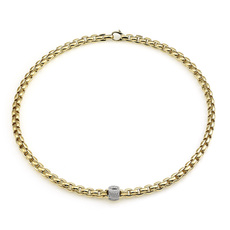 FOPE Flex'it Eka 18ct Gold & Diamond Set Necklace 701CPAVE