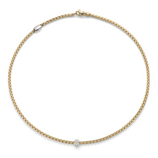 FOPE Flex'it Eka Tiny 18ct Gold & Diamond Necklace 730CPAVE
