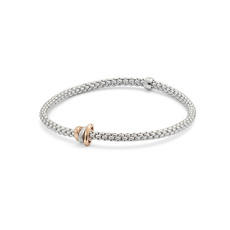 FOPE Flex'it Prima 18ct White Gold & Diamond Bracelet 744BBBRM