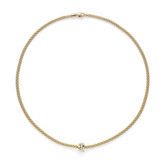 FOPE Flex'it Prima 18ct Gold & Diamond Necklace 744CBBR