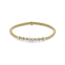 FOPE Flex'it Prima 18ct Gold & Diamond Bracelet 747BBBRM