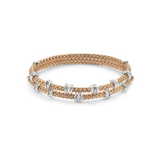 FOPE Flex'it Prima 18ct Rose Gold & Diamond Bracelet 747B-2FBBRM