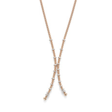 FOPE Flex'it Prima 18ct Rose Gold & Diamond Necklace 747CBBR