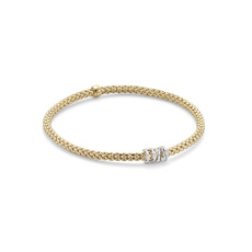 FOPE Flex'it Prima 18ct Gold & Diamond Bracelet 748BBBRM