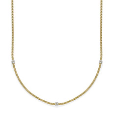 FOPE Flex'it Prima 18ct Gold & Diamond Necklace 741CBBR70