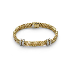 FOPE Maori 18ct Gold Diamond Set Bracelet 862BBBR