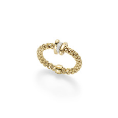 FOPE Flex'it Prima 18ct Gold & Diamond Ring (Medium) AN744BBRM