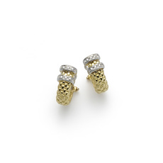 FOPE Maori 18ct Gold Diamond Set Earrings OR155BBR