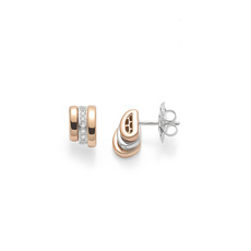 FOPE Flex'it Prima 18ct Rose Gold & Diamond Stud Earrings OR744BBR