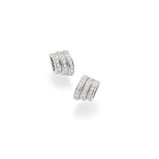 FOPE Flex'it Prima 18ct White Gold & Diamond Stud Earrings OR744PAVE