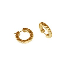 FOPE Luci 18ct Gold Hoop Earrings F85