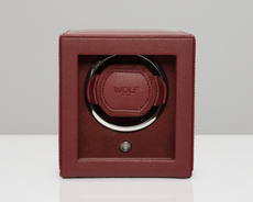WOLF Bordeaux Cub Single Winder with Cover Watch Winding Box 461126