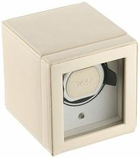 WOLF Cream Cub Single Winder with Cover Watch Winding Box 461153