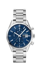 TAG Heuer Carrera Calibre 16 Blue Dial Stainless Steel Mens Chronograph Watch CBK2112.BA0715
