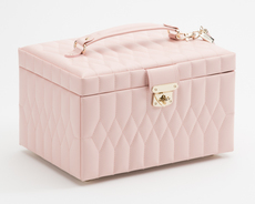 WOLF Caroline Rose Quartz Medium Jewellery Box & Travel Case 329715