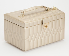 WOLF Caroline Champagne Medium Jewellery Box & Travel Case 329746