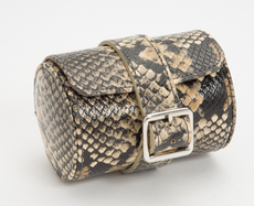 WOLF Exotic Python Effect Tan Travel/Storage Watch Roll 462722