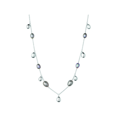 Links of London Sterling Silver & Grey Pearl Hope Necklace (Short) 5020.3908