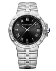 Raymond Weil Parsifal Classic Black Dial Stainless Steel Mens Quartz Watch 5580-ST-00208