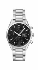 TAG Heuer Carrera Calibre 16 Black Dial Stainless Steel Mens Chronograph Watch CBK2110.BA0715