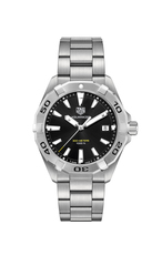 TAG Heuer Aquaracer Black Dial Stainless Steel Mens Quartz Watch WBD1110.BA0928