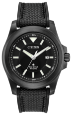 Citizen Eco-Drive Promaster Tough Black Dial Black Stainless Steel Mens Watch BN0217-02E