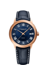 Raymond Weil Maestro Blues Blue Dial PVD Rose Gold Plated Mens Watch 2237-PC5-00508
