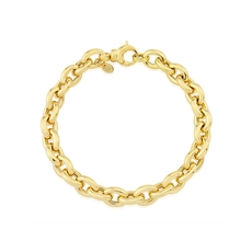 9ct Gold Graduating Circle Link Bracelet
