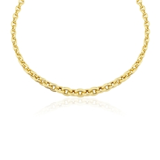 9ct Gold Graduating Circle Link Necklace
