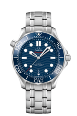 Omega Seamaster Diver 300M Omega Co-Axial Master Chronometer Blue Dial Stainless Steel Mens Watch 21030422003001
