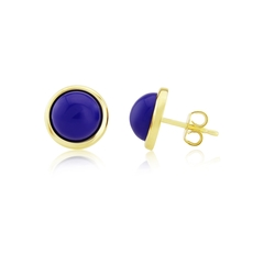 9ct Yellow Gold Lapis Lazuli Set Stud Earrings