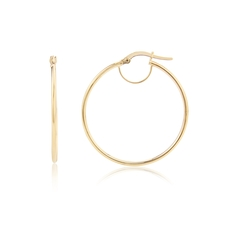 9ct Gold Fine Hoop Earrings