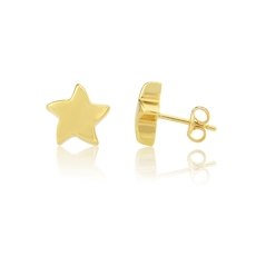 9ct Gold Star Stud Earrings