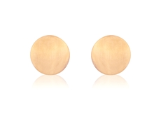 9ct Rose Gold Flat Round Stud Earrings