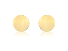 9ct Gold Flat Round Stud Earrings