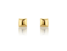 9ct Gold 5mm Square Stud Earrings