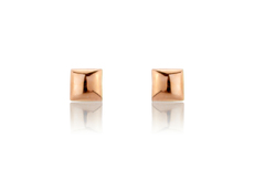 9ct Rose Gold 5mm Square Stud Earrings