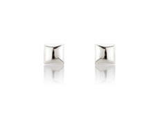9ct White Gold 5mm Square Stud Earrings